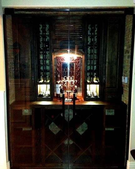 Glass Wine Cellar Door