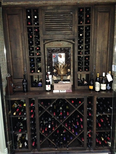 Residential Wine Room Yorba Linda CA
