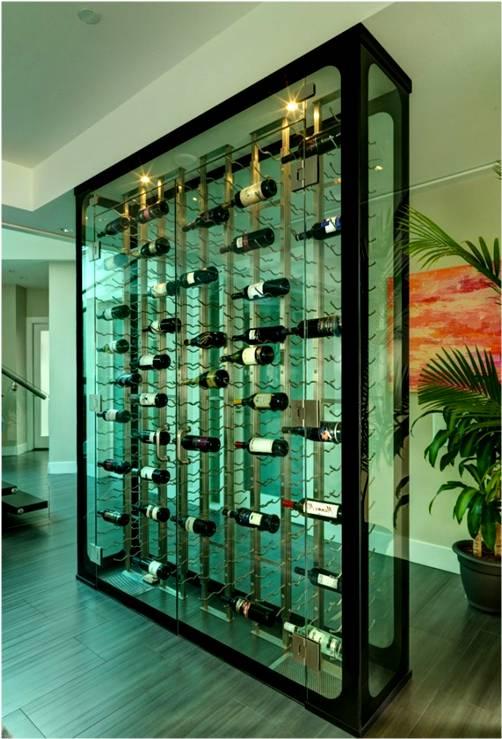 glass wine cellar by BGWC