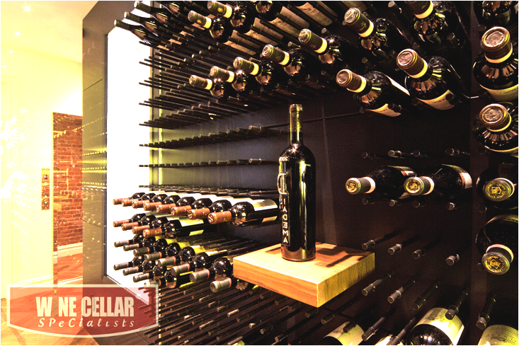 stainless steel wine racks by WCS