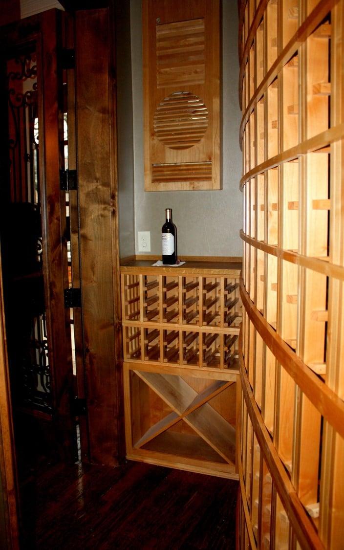 6 Texas Trophy Club Wine Racks Full left end view