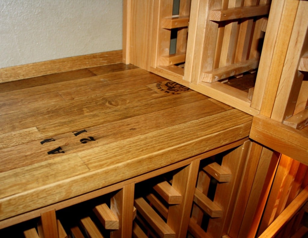 9 Top view of reclaimed wine barrel tabletop