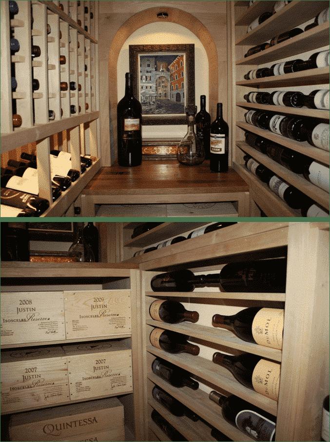Texas home wine cellar racking design