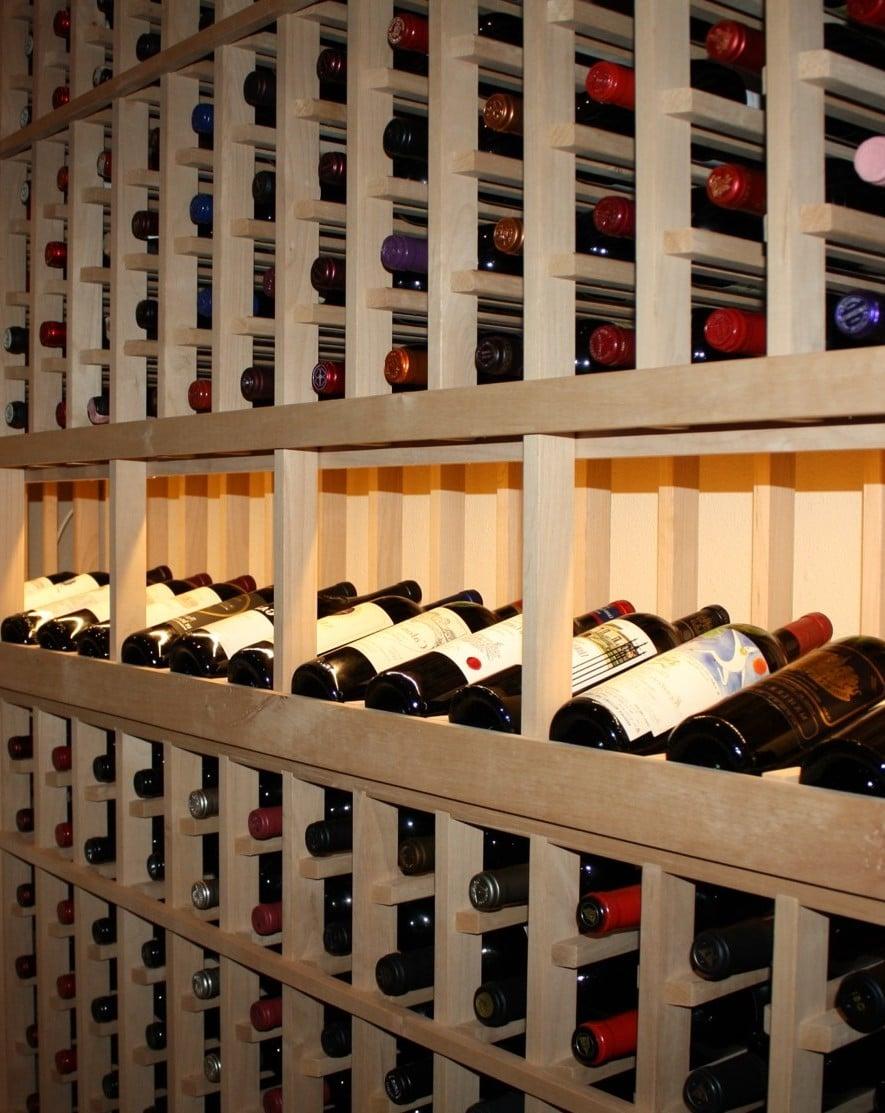 Texas wine cellars left wall wine racks