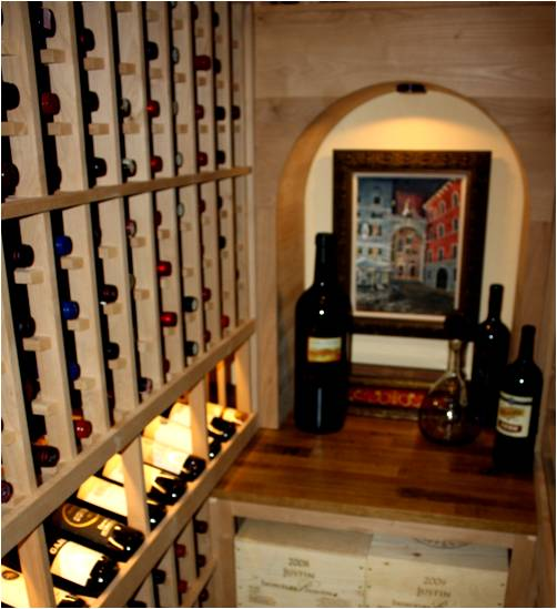 Wine Cellar Specias Has Converted A Small Closet Into Beautiful Texas Equipped With An Efficient Cooling Unit