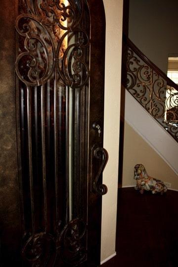 Wrought Iron Door Frisco Texas Wine Cellar