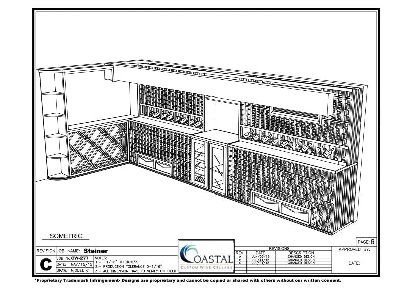 3D Design California Home Wine Cellar Project